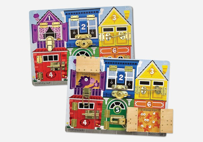 Wooden puzzles for kids - Melissa & Doug Deluxe Latches Board