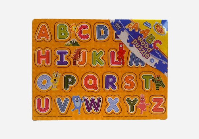 Wooden puzzles for kids - Yo Gabba Gabba ABC Letters Wood Puzzle