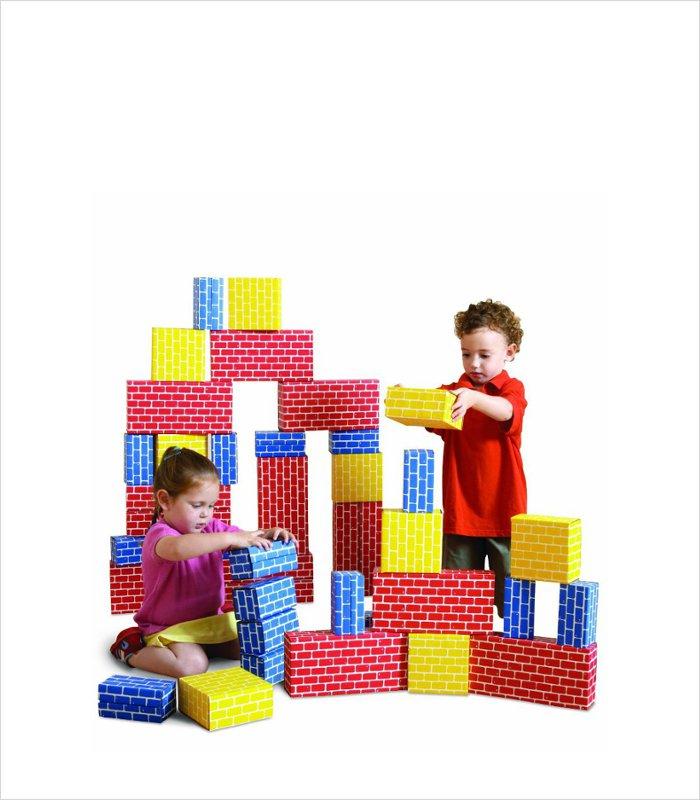Cardboard bricks for kids - Edushape corrugated blocks