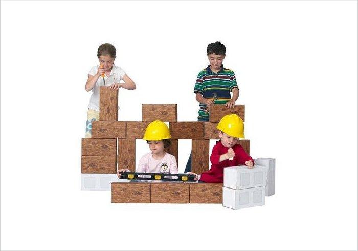 Cardboard blocks for kids - Giant Construction Buliding Block Set
