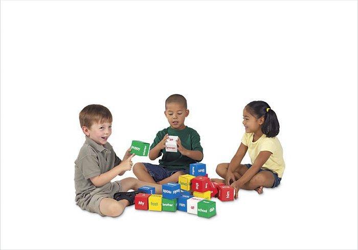 Highly educational cardboard blocks for children - Little Reader Blocks
