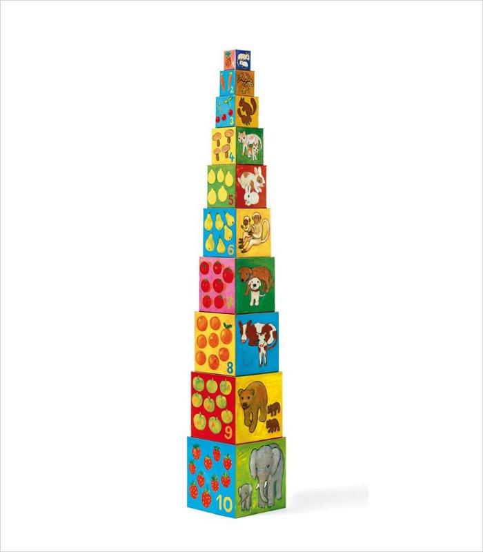 Cardboard building blocks for kids - Djeco My Friends Nesting Blocks