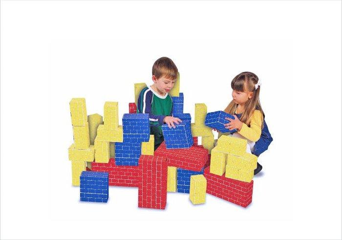 Cardboard building blocks for kids - Melissa and Doug Giant Building Bricks