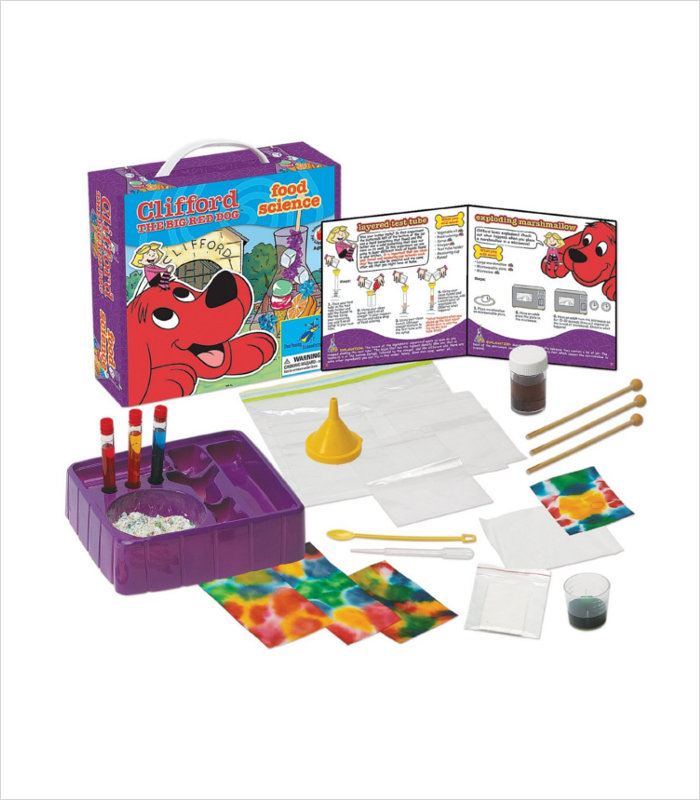 Science toys for kids - Clifford The Big Red Dog Food Science Kit