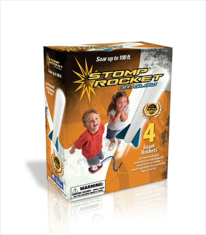 Science toys for kids - Jr. Glow in the Dark Stomp Rocket Kit