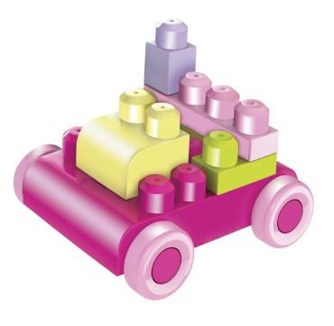 Mega Bloks Bag (Pink) - - Construction Toys for Kids