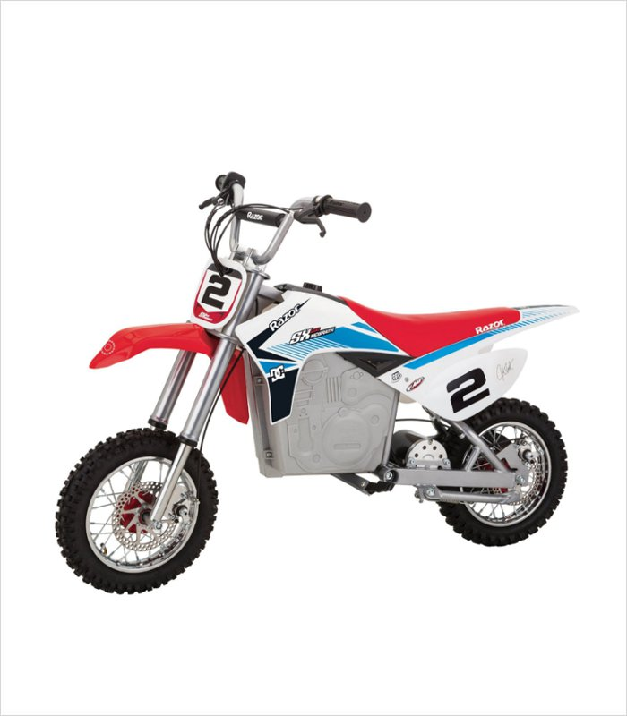 Gift ideas for 12 year old boy - Razor SX500 McGrath Dirt Rocket Electric Motocross Bike