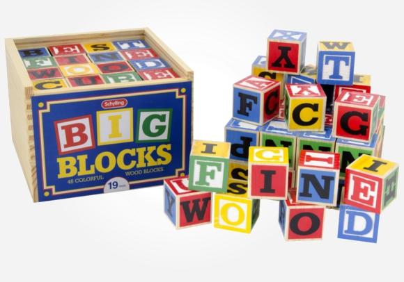 Big colorful building blocks that teach kids the alphabet