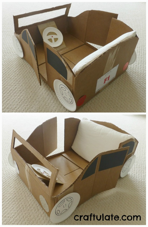 10 Ideas About Cardboard Box Cars On Pinterest: 7 Recycled Crafts For Kids: Turning Trash Into Cute Fun