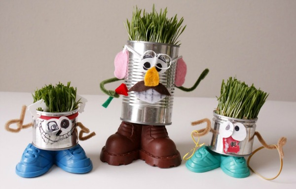 7 recycled crafts for kids turning trash into cute fun for Crafts from recycled stuff