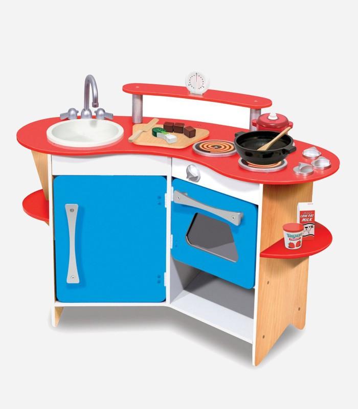 wooden play kitchens - Melissa and Doug cooks corner kitchen
