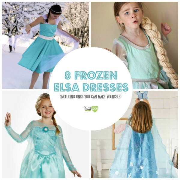 8 Disney Frozen Elsa dresses  sc 1 st  Kids Love This Stuff! : homemade elsa costume  - Germanpascual.Com