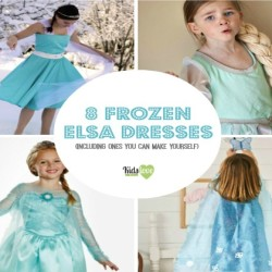8 Fabulous Disney Frozen Elsa Dresses (6 You Can Make Yourself) and 1 DIY Frozen Cape