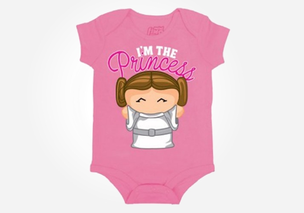 Geek baby clothes - I'm the princess and I'm cute to boot.