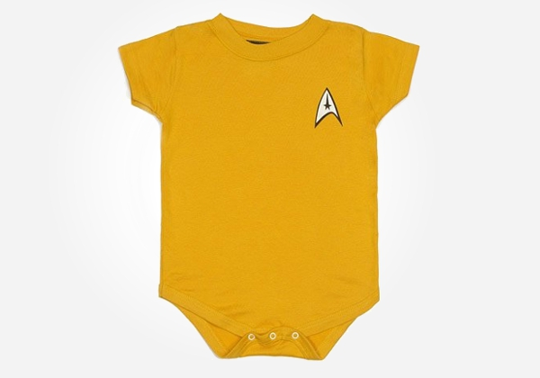 Geek baby clothes - Star Trek baby style for mini trekkies everywhere