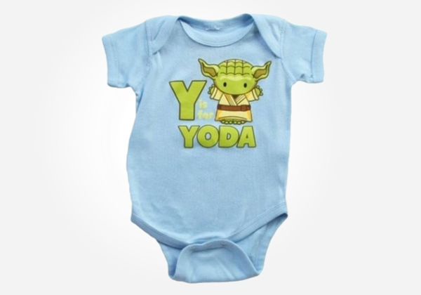 Geek baby clothes - Y is for Yoda