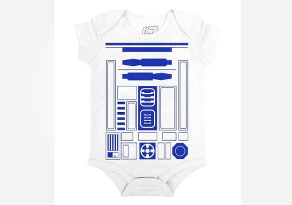 Geek baby clothes - cute R2D2 baby onesie