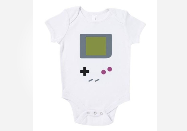 Geek baby clothes - gamer onesie