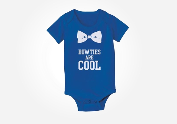 Bowties are cool - nerdy baby onesies