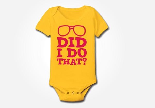 Retro glasses - nerdy baby onesies