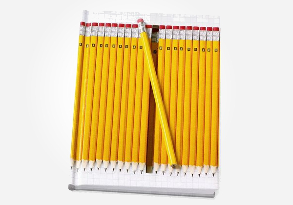 Now where did I leave my pencil? Hidden pencil notebook - fun back to school gifts for kids.