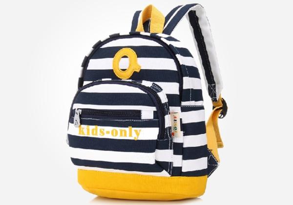 cute school backpacks - deer mum navy strips backpack