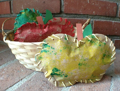 fall craft projects for kids - apple basket