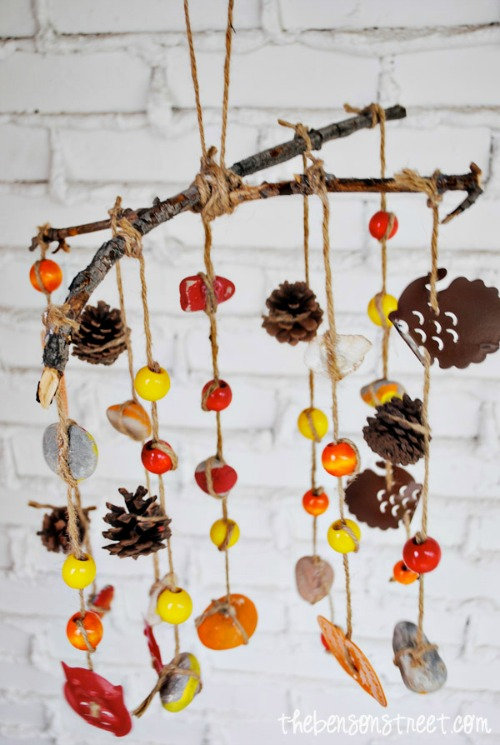 fall craft projects for kids - wind chime