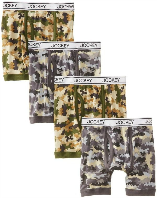 Jockey camo boxer briefs as a Christmas gift idea
