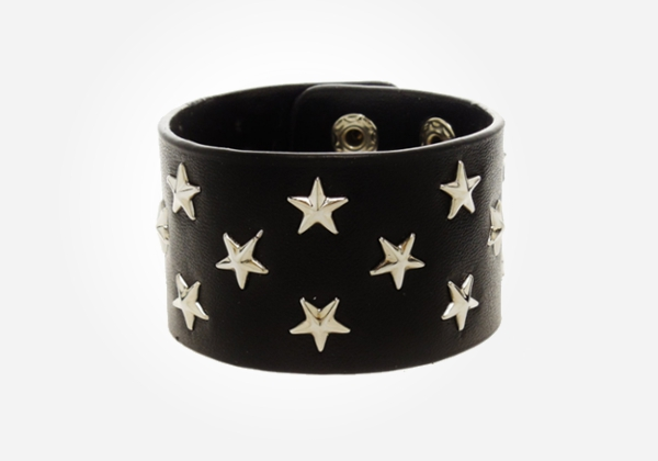 A leather stud bracelet is a fab gift idea for your preteen hipster nephew