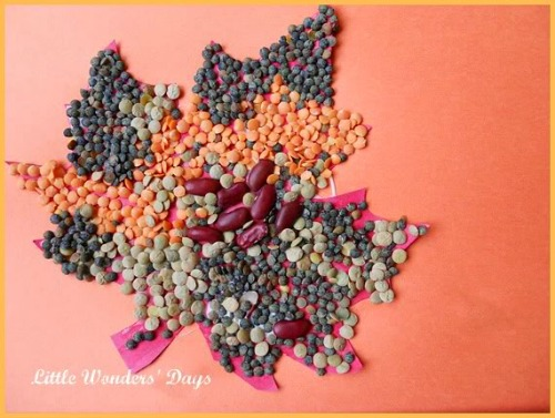 fall craft projects for kids - fall leaf mosaic