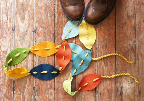 fall craft projects for kids - fall leaves garland