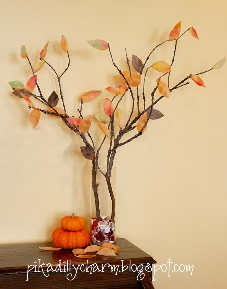 fall craft projects for kids - fall tree
