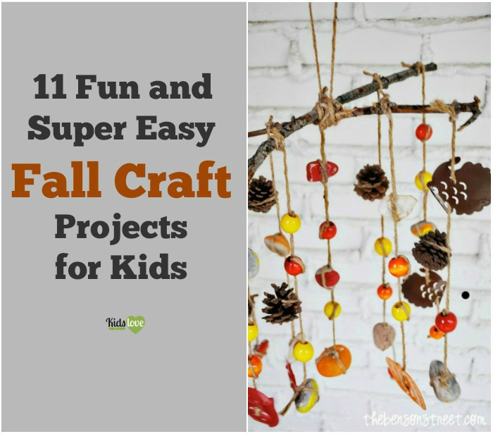 11 fun and super easy fall craft projects for kids for Simple fall crafts for kids