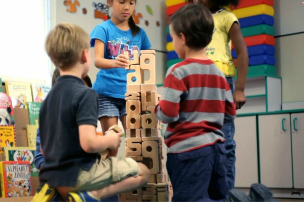 Learning with SumBlox math building blocks is kids play #educationaltoys
