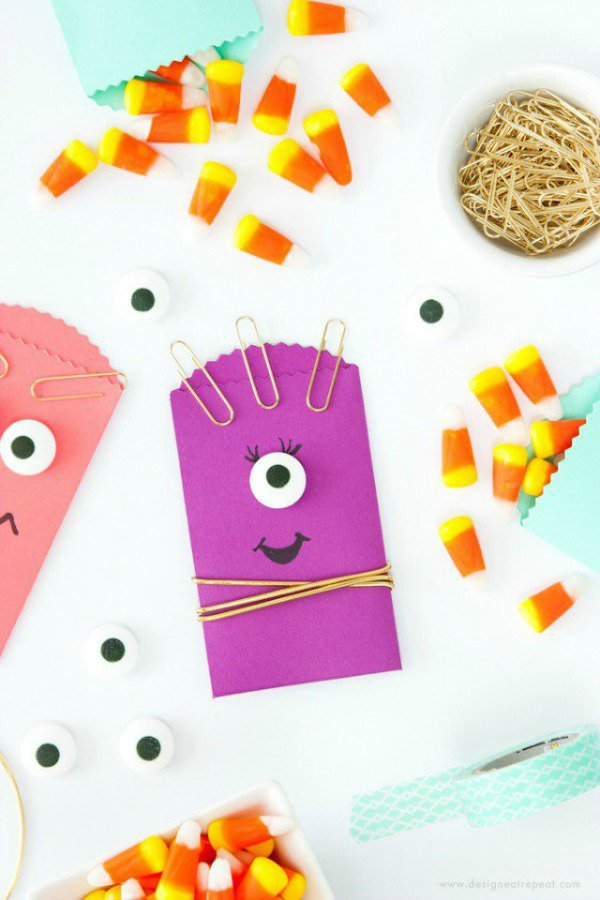 DIY monster Halloween goody bags for kids. Why settle for anything less fun?