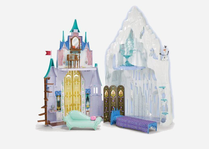 What to get a 4 year old girl for her birthday? How about a Disney Frozen castle and ice palace playset like this one?