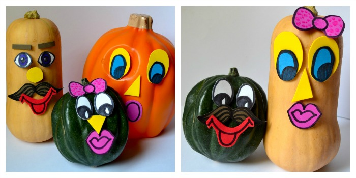 Halloween crafts for kids to make - Mr Pumpkin Head and co.