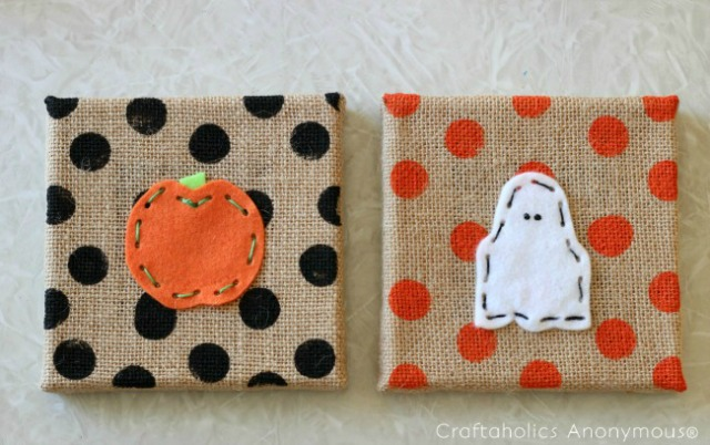 Halloween craft idea for kids - a lacing project. Fun way to introduct the kids to needlecraft.