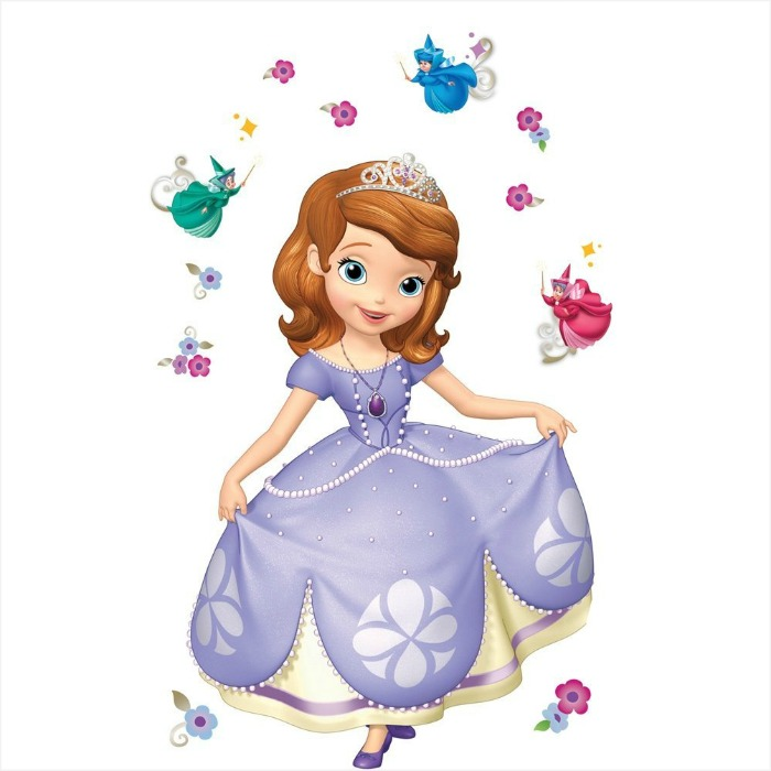 Sofia the First wall decal set - a great 4 year old girl gift idea. Check out the other ideas here.