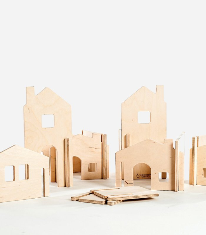 Modular house walls - eco-friendly handmade wooden toys for kids | KidsLoveThisStuff.com