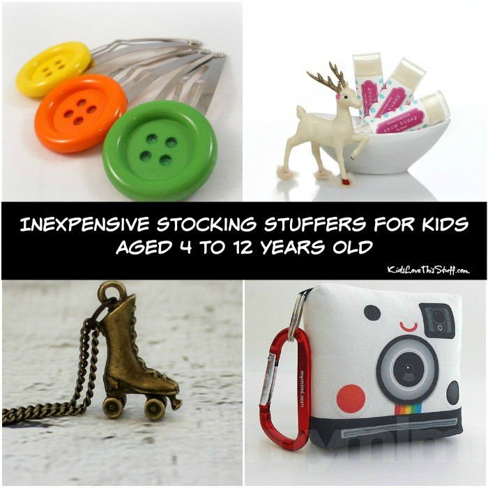 Inexpensive stocking stuffers for kids aged 4 to 12 years old