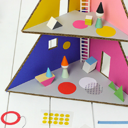 Craft Your Own Christmas Tree Dollhouse for the Kiddos