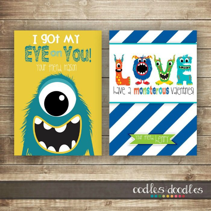The cutest printable Valentine's cards for kids share with their classmates.