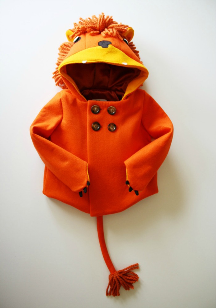 Bright orange in color, this is one toddler coat that commands attention. Click through to see other coats in the collection.