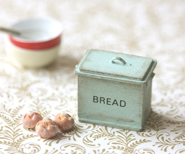 Beautiful miniature dollhouse accessories with a shabby chic twist.