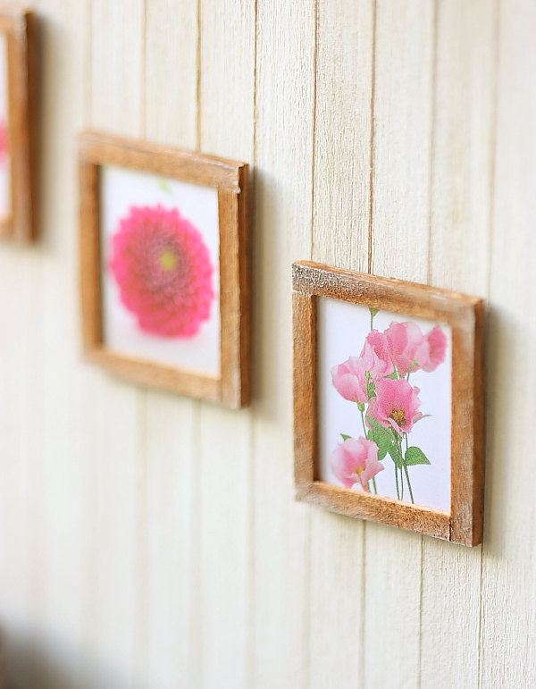 These mini #dollhouse wall hangings are look so realistic. That's because they have a very real element to them. Click through to find out what that is.