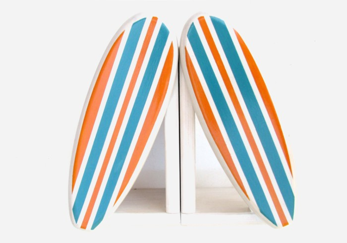 The perfect pair of bookends for the surfer kid with a beach themed bedroom | kidslovethisstuff.com