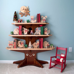 Bookends for kids - woodland animal bookends