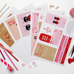 How to Make Your Own Valentine Cards, Gift Tags, Coupons and More